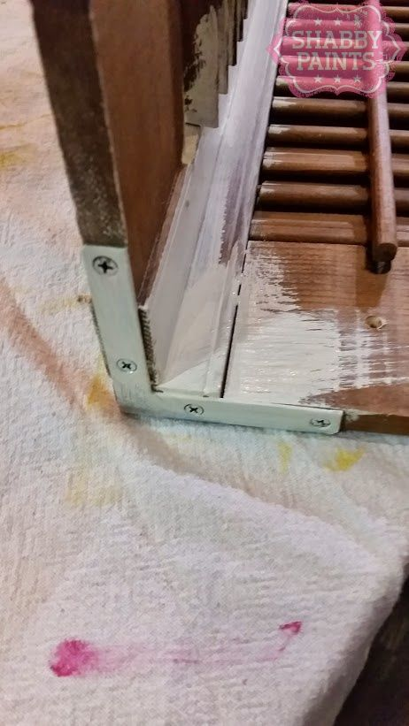 Repurposed Shutters-use L brackets to attach them together.  Then paint.