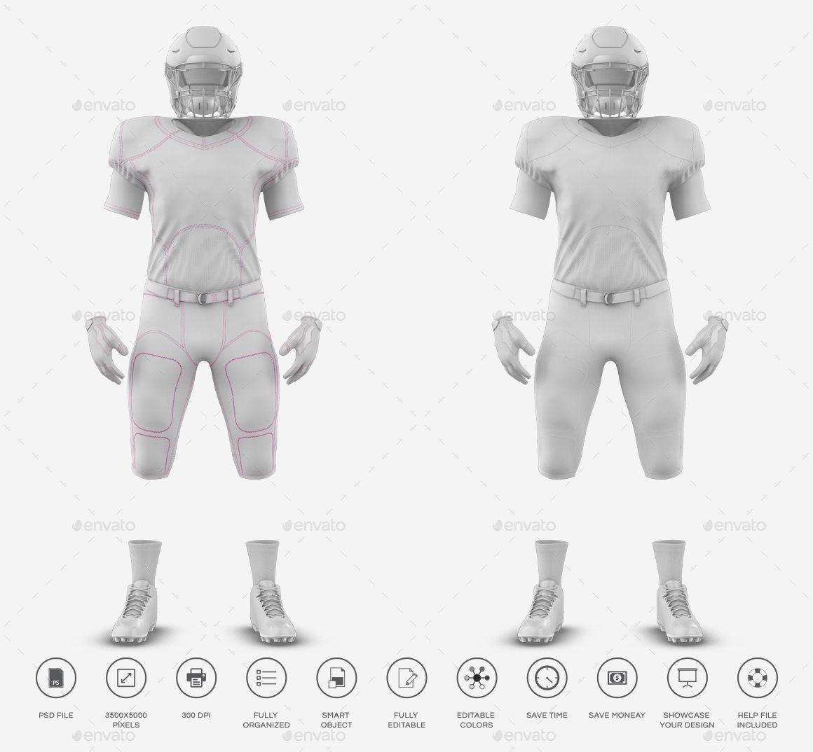 Download American Football Kit Mockup V1 American Football Football Kits Football Free Mockups