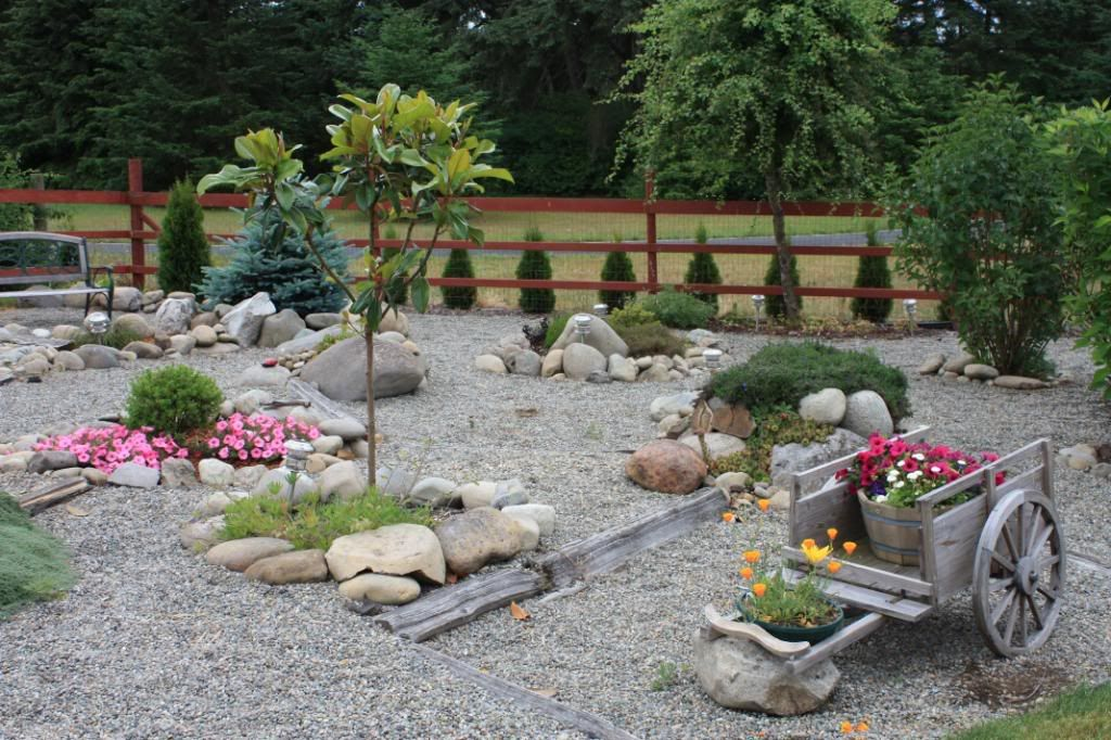 Rock Garden Designs For Front Yards With good Rock Garden Designs For Front  Yards Of Set