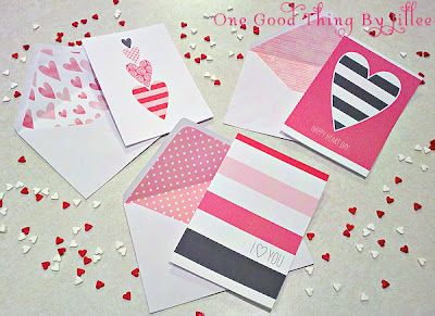 Make Your Own Last Minute Valentine's Day Cards and Lined Envelopes! - One Good Thing by Jillee