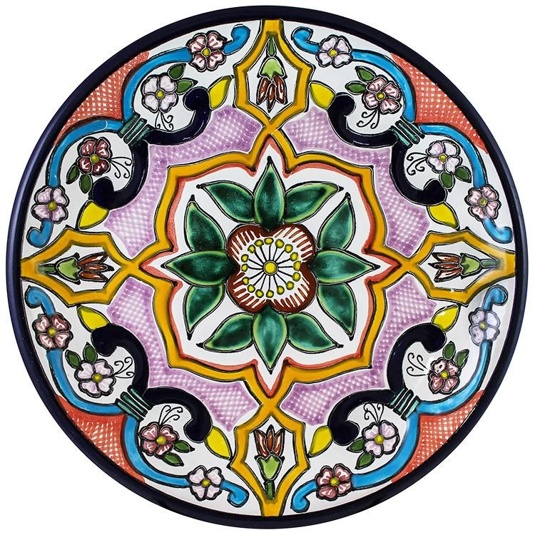 Tomas Huerta TalaveraPlate - Pattern 73 ♥️♣️♣️Talavera Mexican Pottery : More At FOSTERGINGER @ Pinterest ♣️