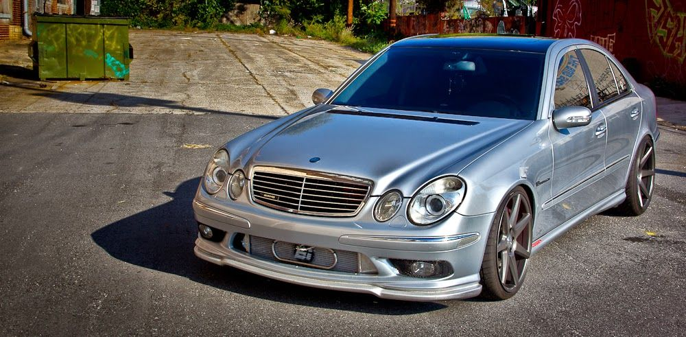 mercedes benz w211 e55 amg vossen wheels benztuning mb. Black Bedroom Furniture Sets. Home Design Ideas