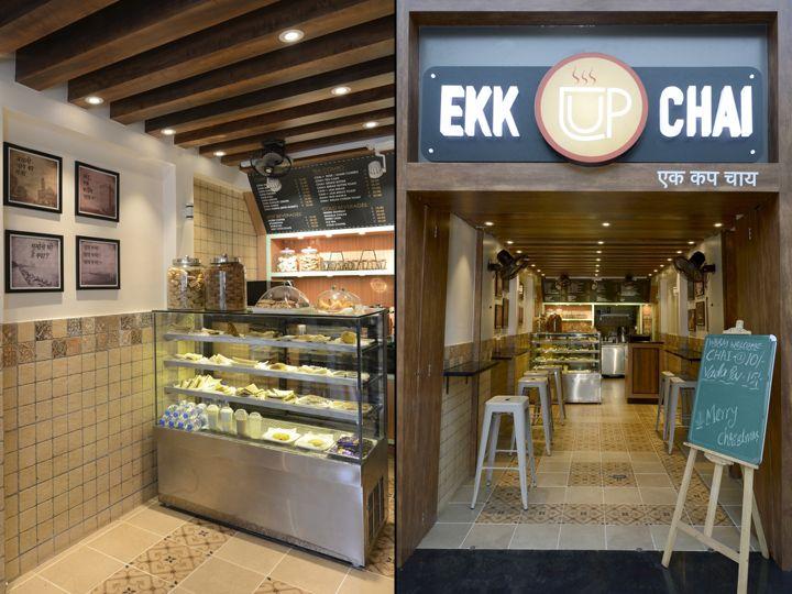 Ekk Cup Chai One Cup Tea By Frdc Mumbai India Retail Design Blog Cafe Interior Design Chai Retail Design Blog