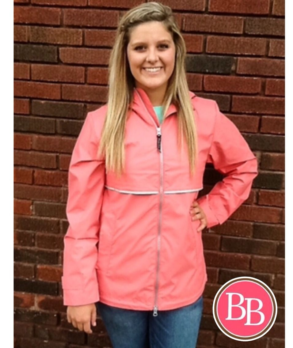 Rain, rain, go away. The BB Girls need to take pics today!☔️ • Find all of your rainy day gear right here @brandisboutiqueshop!! #BBGirls #rainyday #raincoat #rainboots www.brandisboutiqueshop.co