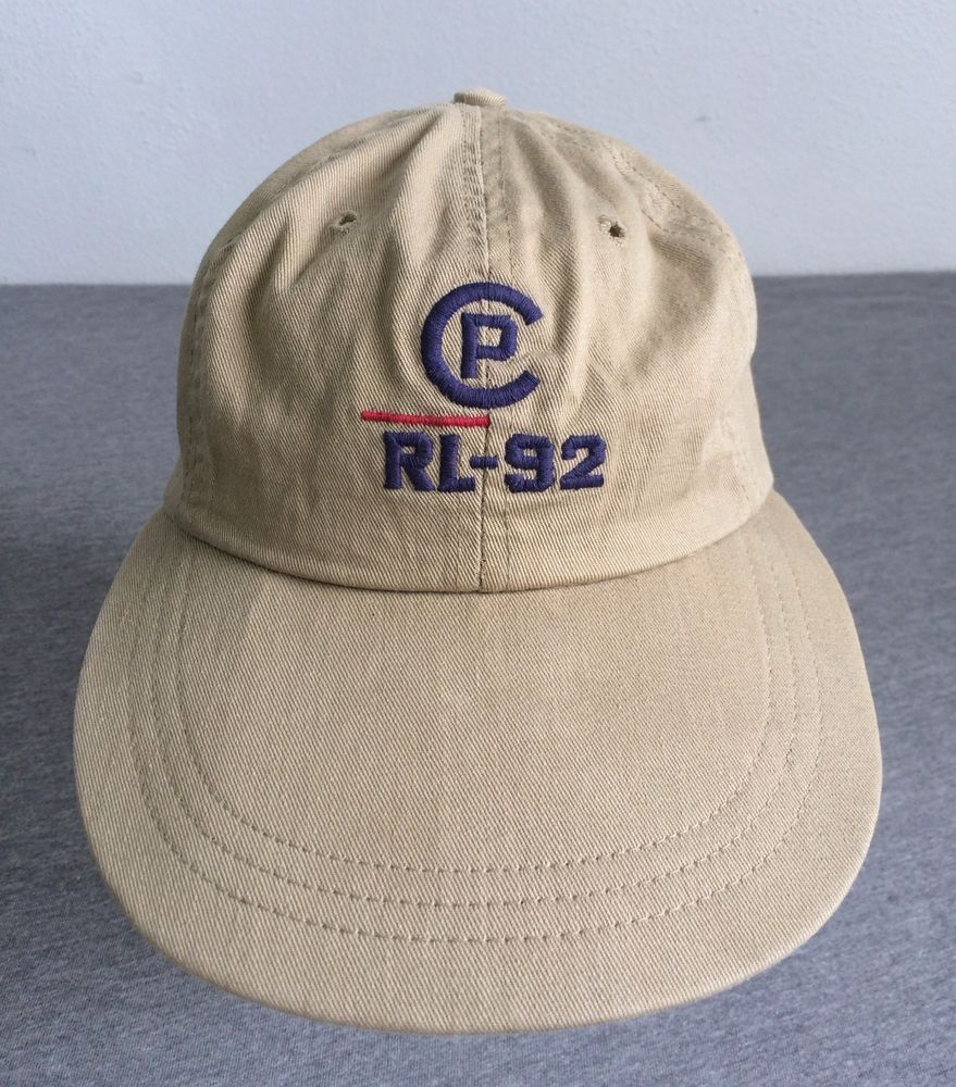5e432089 POLO RALPH LAUREN 1992 Hat CP-RL Long Bill Fitted USA Made Pwing Stadium  EUC Sm #PoloRalphLauren #BaseballCap