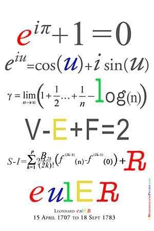 Leonhard Euler 1707 - 1783    several of his formulae