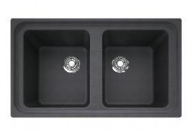 Franke Impact Granite Double Bowl Sink 0th Onyx Reece 1 106 Double Bowl Sink Sink Granite