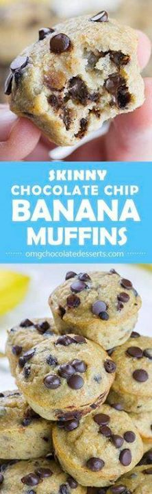 Skinny Chocolate Chi Skinny Chocolate Chip Banana Muffins is...  Skinny Chocolate Chi Skinny Chocolate Chip Banana Muffins is EASY and HEALTHY BREAKFAST RECIPE for busy mornings!!! Recipe : http://ift.tt/1hGiZgA And @ItsNutella  http://ift.tt/2v8iUYW