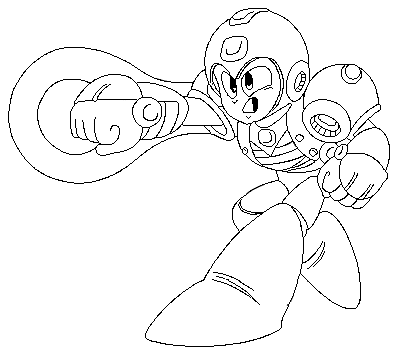Power Suit Mega Man Coloring Page For Boys Robot