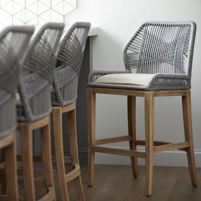 Loom Barstool D I N I N G In 2019 Woven Bar Stools