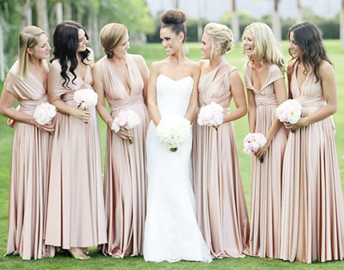 Dark Champagne Bridesmaid Dresses