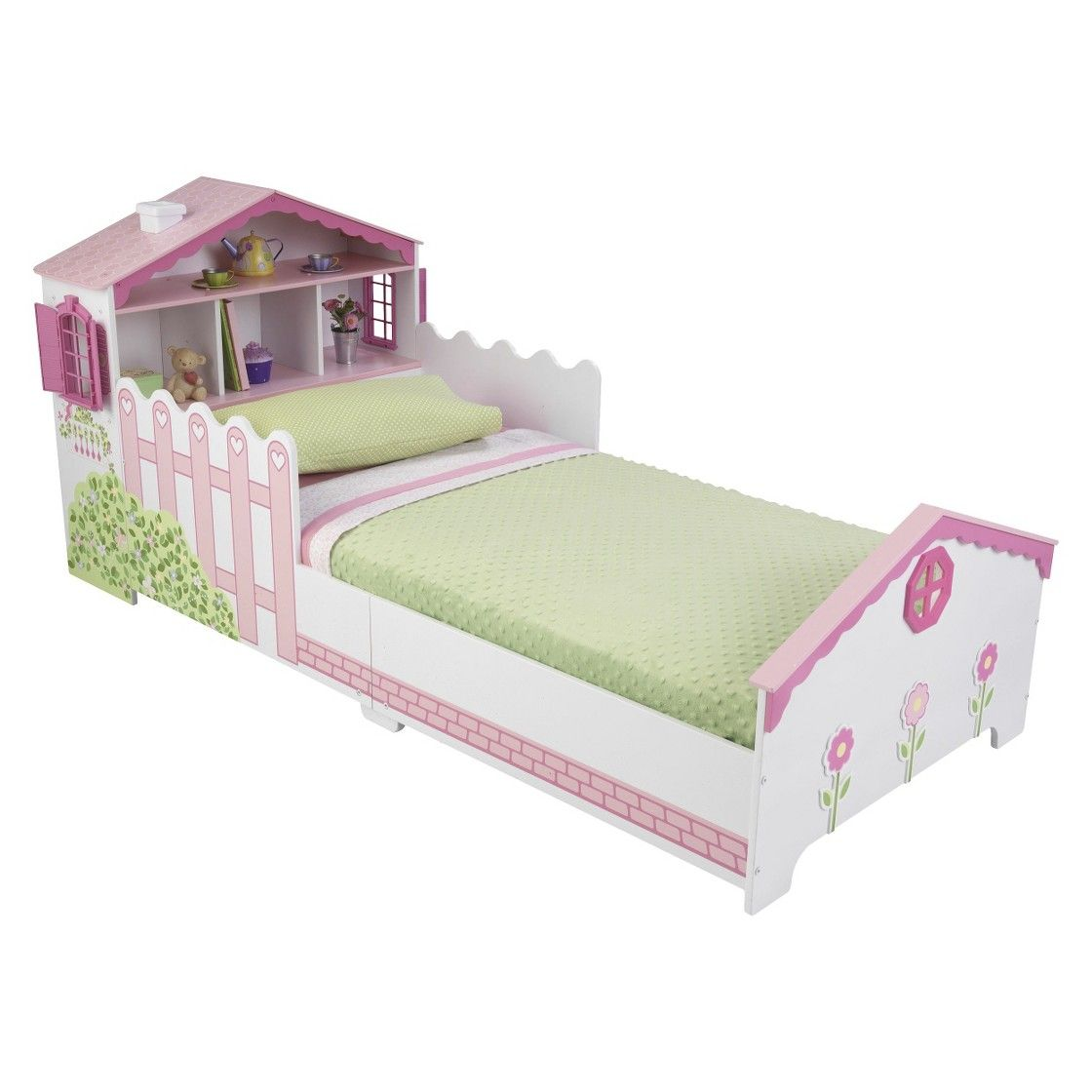 Toddler Dollhouse Kidkraft Dollhouse Toddler Bed Pink And White Lilys Room