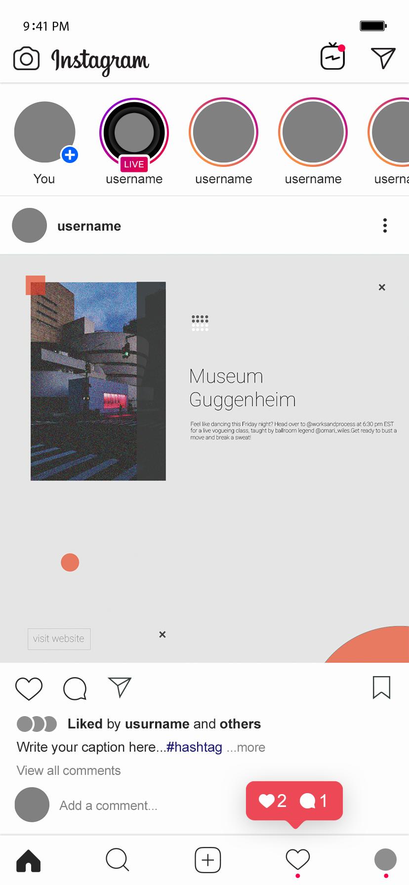 Guggenheim Museum Instagram Posts Design On Behance Instagram Posts Post Design Guggenheim