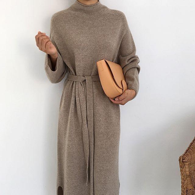 Sweater Dress - bescheidene Abnutzung, Hijab, minimal, monochrom, Street Style, Herbst-wi ... - Sommer Mode Ideen #smartcasual