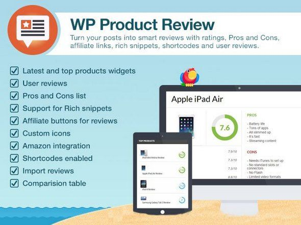 Wp Product Review Pro V Wordpress Plugin Blogger Template  Web