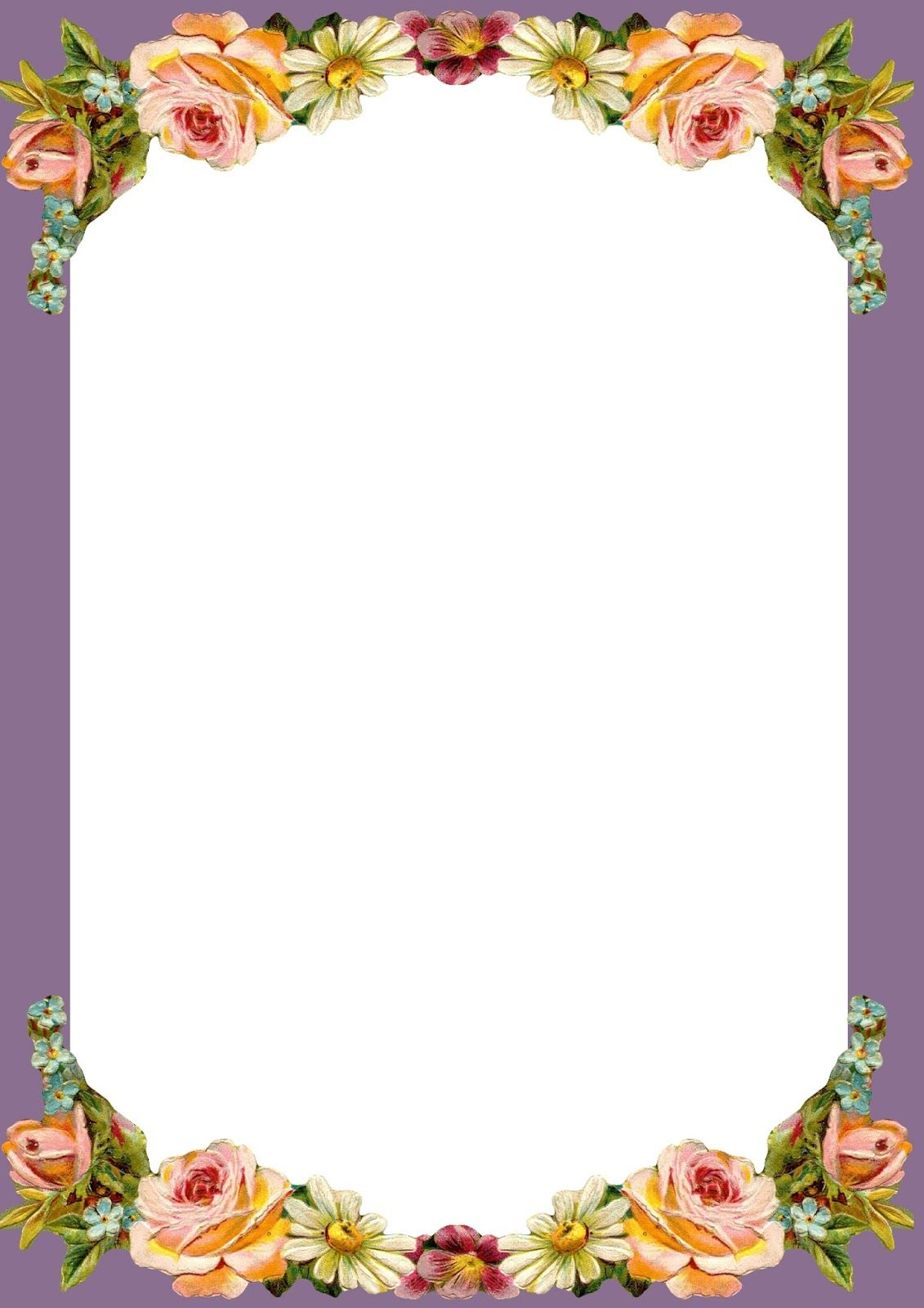 Free Printable Vintage Stationery  Free Paper Templates With Borders