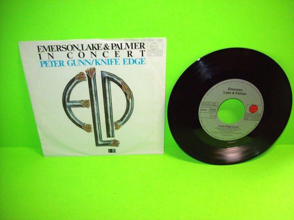 "Emerson, Lake & Palmer – In Concert: Peter Gunn/Knife Edge 7"" Vinyl Record NM #ELP #EmersonLakeAndPalmer"