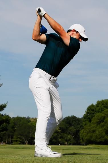 Men's fashion · Rory McIlroy wearing Nike Lunar Control 4 Golf Shoes in  White/Wolf Grey/White