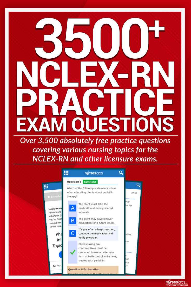 Here's our growing collection of NCLEX Practice Questions you can use for  your upcoming licensure exams for FREE! There are over 3500 items in this  set ...