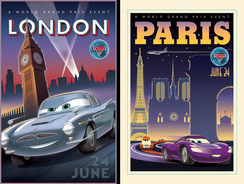 Disney Cars Vintage Posters