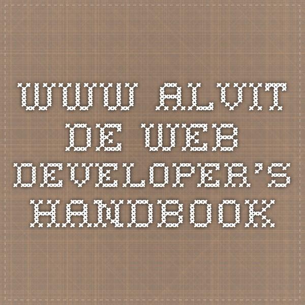 www.alvit.de Web Developer's Handbook
