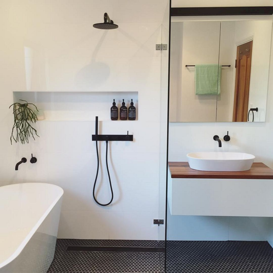 115 Extraordinary Small Bathroom Designs For Small Space 093 | Small ...