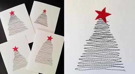 una tarjeta original navidad decoracin navidea manualidades navideas recetas navideas - Postales Originales De Navidad