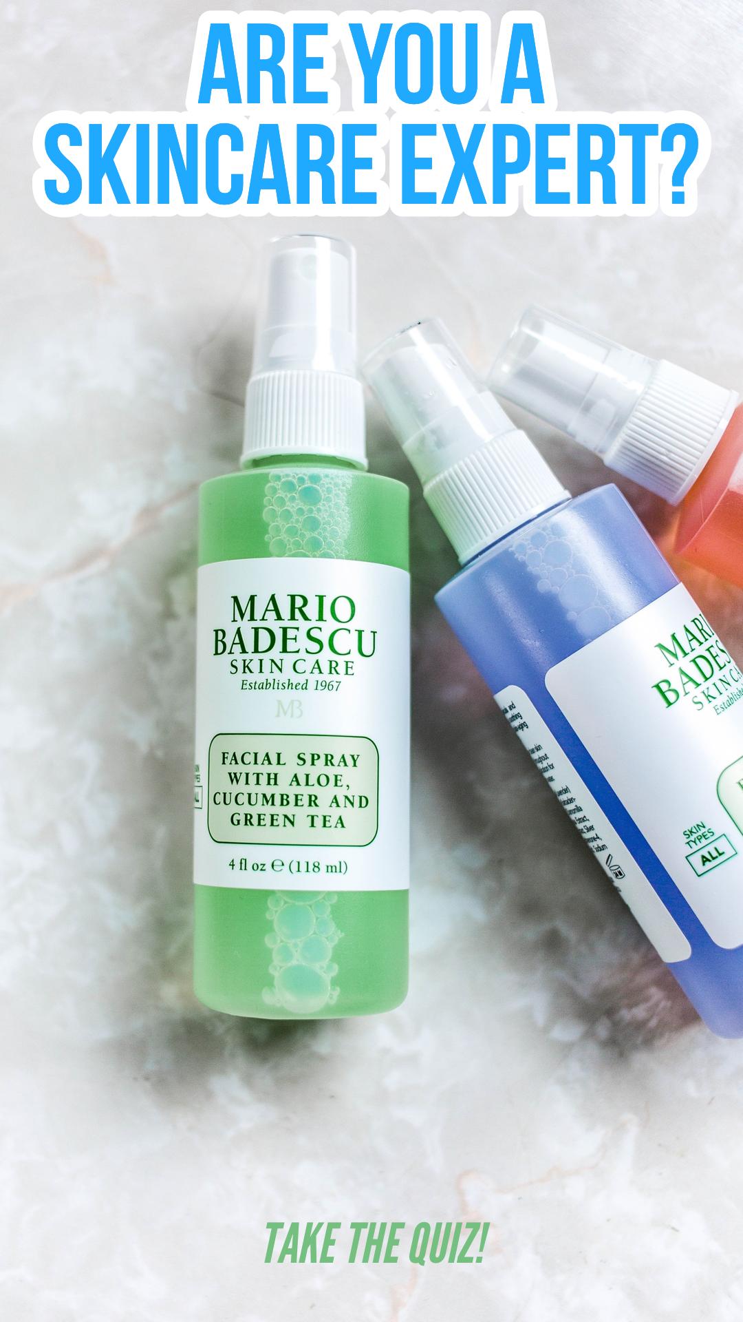 Are You A Skincare Expert In 2020 Skin Care Quiz Skin Care Mario Badescu Skin Care