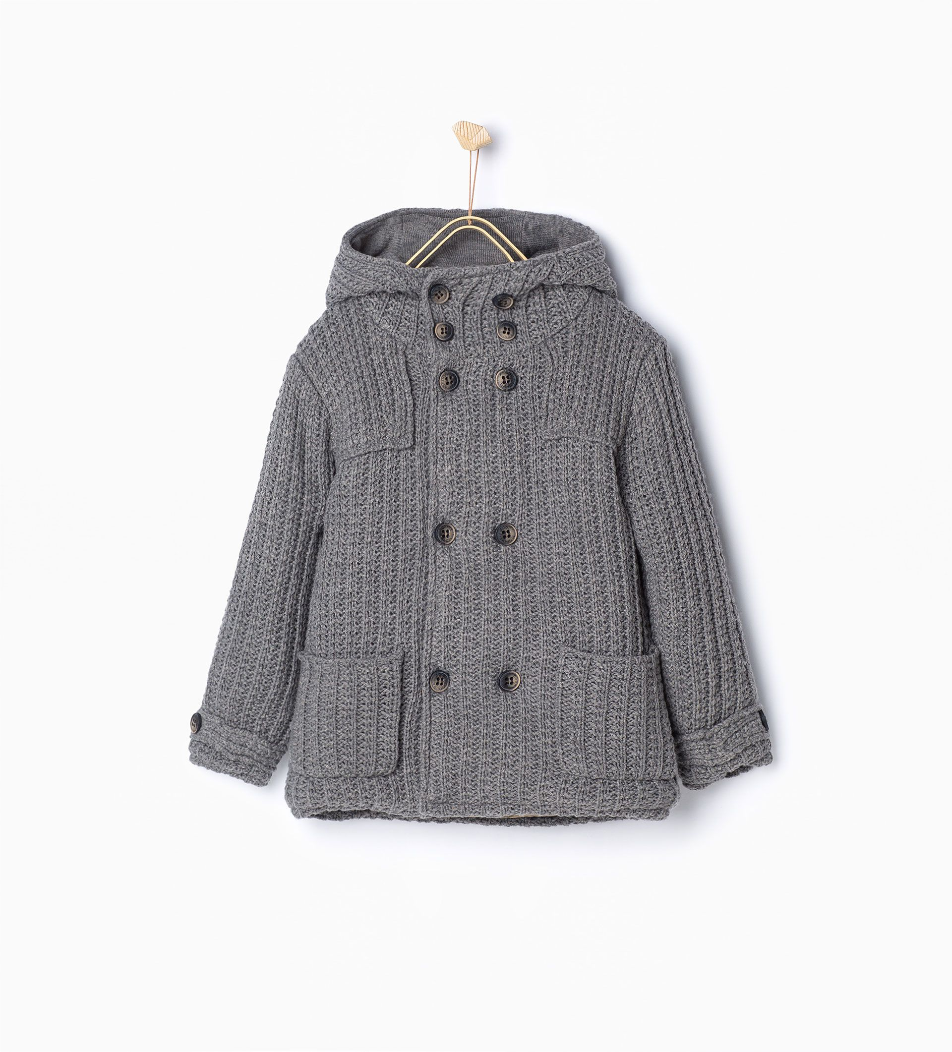 Veste en maille avec deux rangées de boutons Manteaux