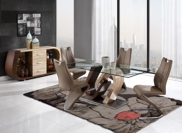 5pc Modern Style Dining Set Global Furniture Usa D4126dt D4126dc