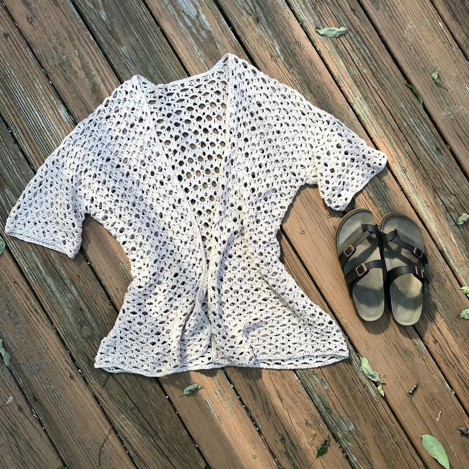 Kaycee Summer Cardigan Crochet Pattern - Crochet it Creations