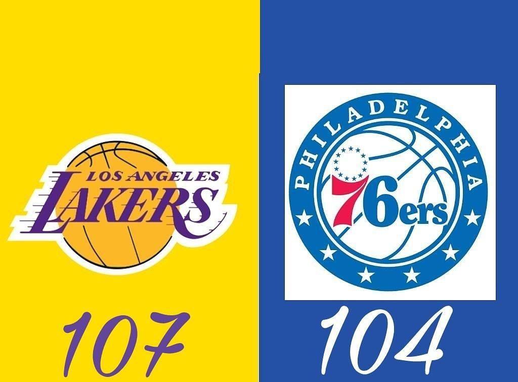 Resultados partidos de anoche. @lakers vs @sixers ...