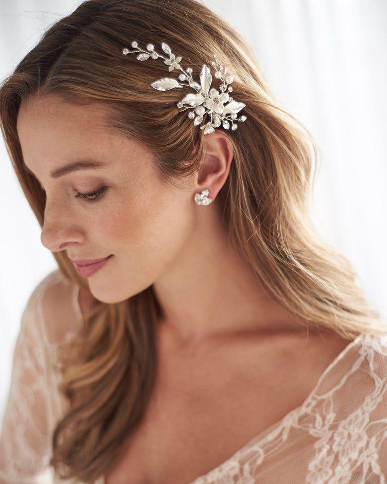 Floral Wedding Hair Clip Flower Bridal Hair Clip Pearl Hair | Etsy