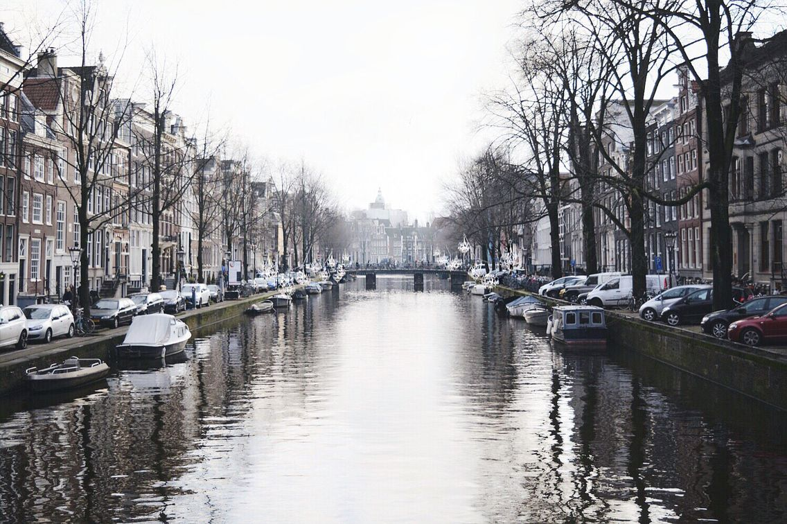 Cold winter mornings in Amsterdam.