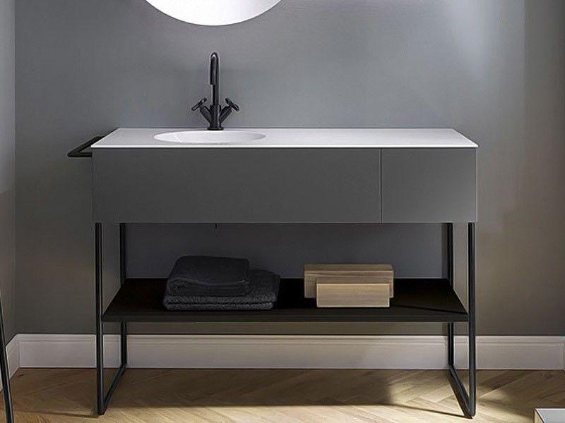 burgbad coco waschtisch mit unterschrank und fußgestell1300, Innenarchitektur ideen