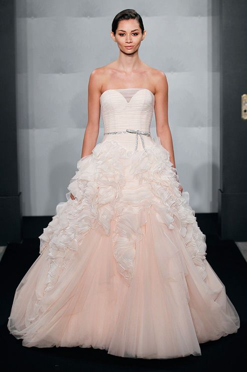 d4fab16adacdb Mark Zunino Fall 2013 Blush Bridal Gown. Beautiful & unique! This was on  SYTTD tonight on Kara Keough from The Real Housewives of Orange County.  Loved it!