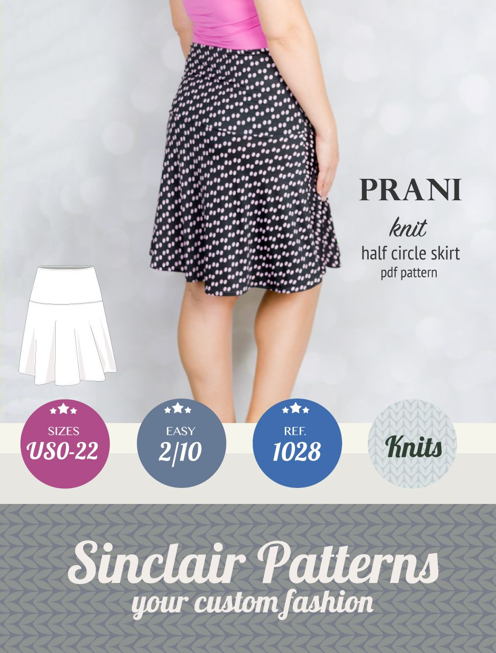 Pdf sewing pattern half circle knit skirt for women easy pdf pdf sewing pattern half circle knit skirt for women easy pdf sewing pattern with step by bankloansurffo Image collections