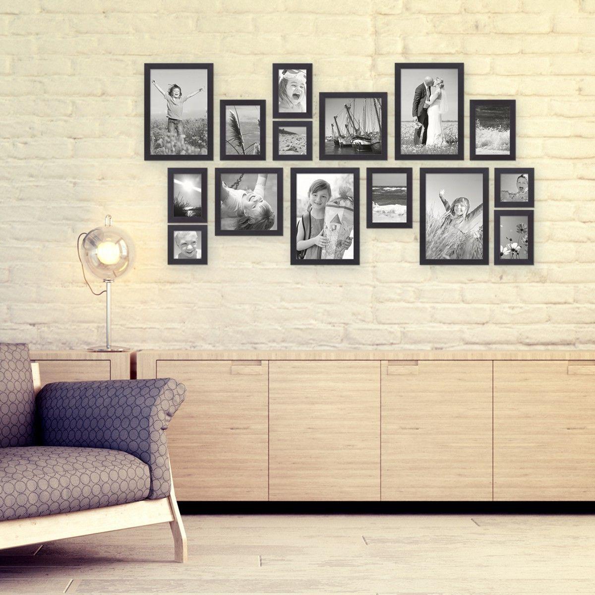 15er Bilderrahmen-Set Modern Schwarz | Servietten | Pinterest ...