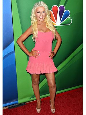 Christina Aguilera slimmed down look
