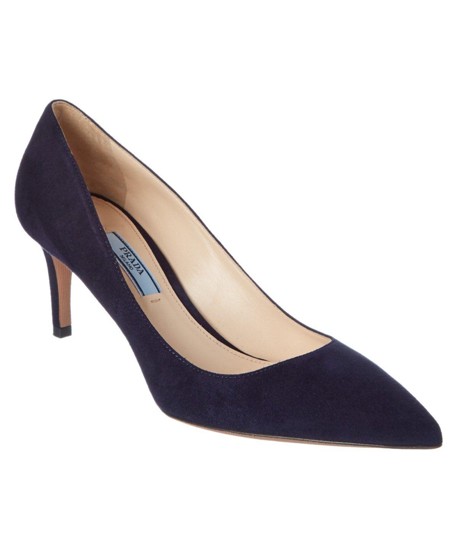 Prada Prada Suede Pointy Toe Pump Prada Shoes Pumps High Heels Pointy Toe Pumps Pumps Pointy Toe