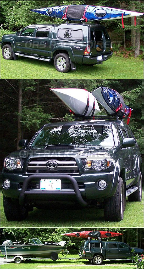 2009 Toyota Tacoma Are Camper Shell Roof Kayak Racks Using Thule 430 Tracker Ii Tk1 Kit Malone Autoloaders Tel Kayak Roof Rack 2009 Toyota Tacoma Kayaking
