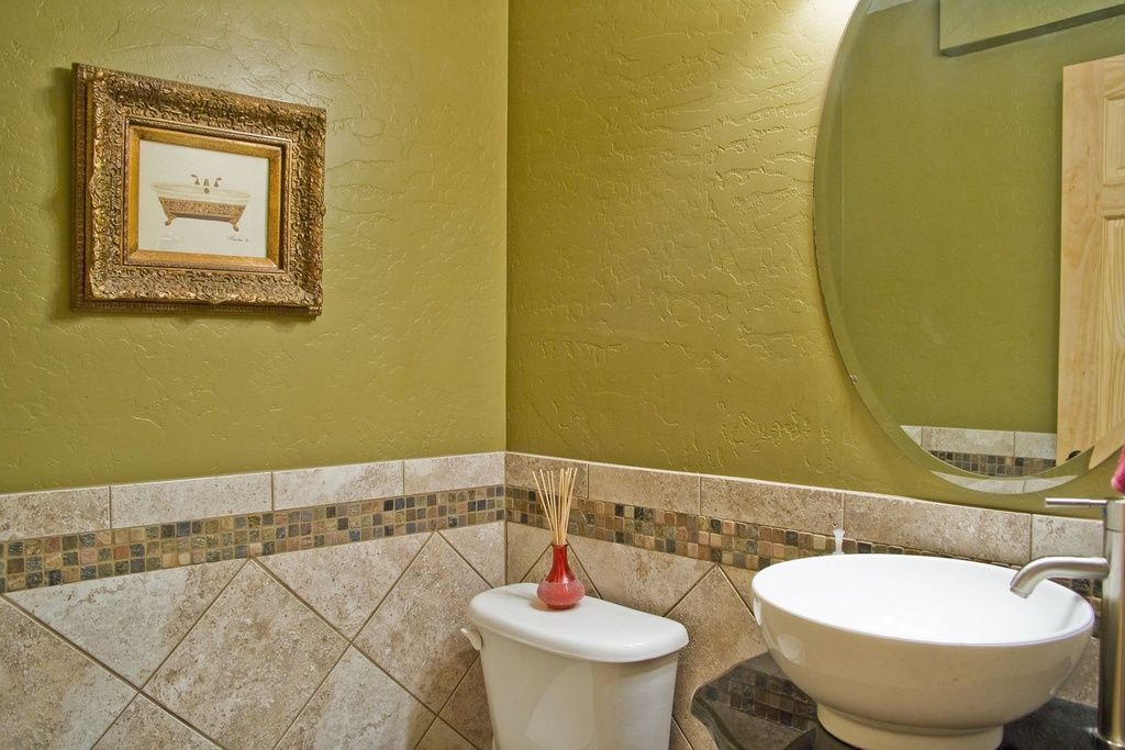 Modern Powder Room with Marazzi florence empoli 12 in. x 12 in ...