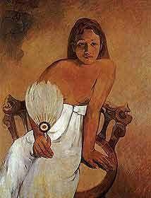 paul-gauguin - Femme à l'éventail