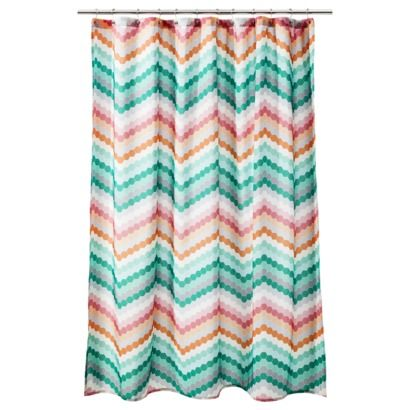 Room Essentials  Chevron Shower Curtain   Pink Green Just bought this last  night forRoom Essentials  Chevron Shower Curtain   Pink Green Just bought  . Turquoise Chevron Shower Curtain. Home Design Ideas