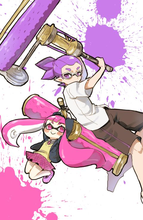 splatoon how to draw inkling boy shouting at wall