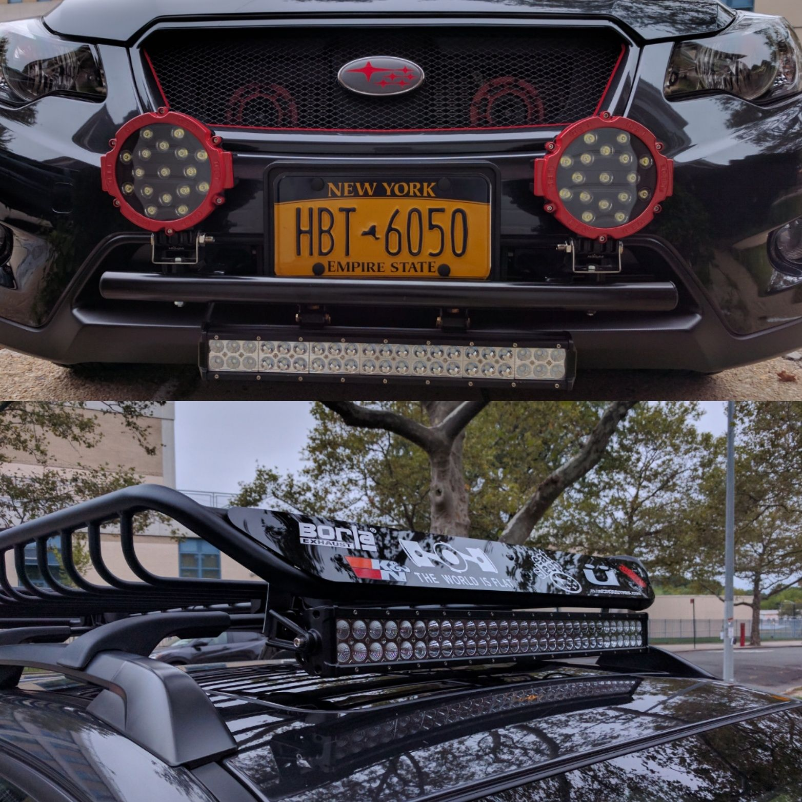 Changed Out My Hella Lights And Bought Another Led Light Bar For The Basket Subaru Wrx Sti Impreza Fo Subaru Crosstrek Subaru Outback Subaru Forester Mods