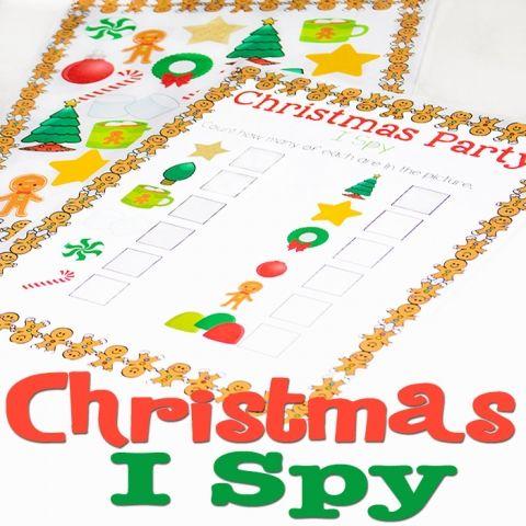 Christmas I Spy Free Printable Activity | Free christmas ...