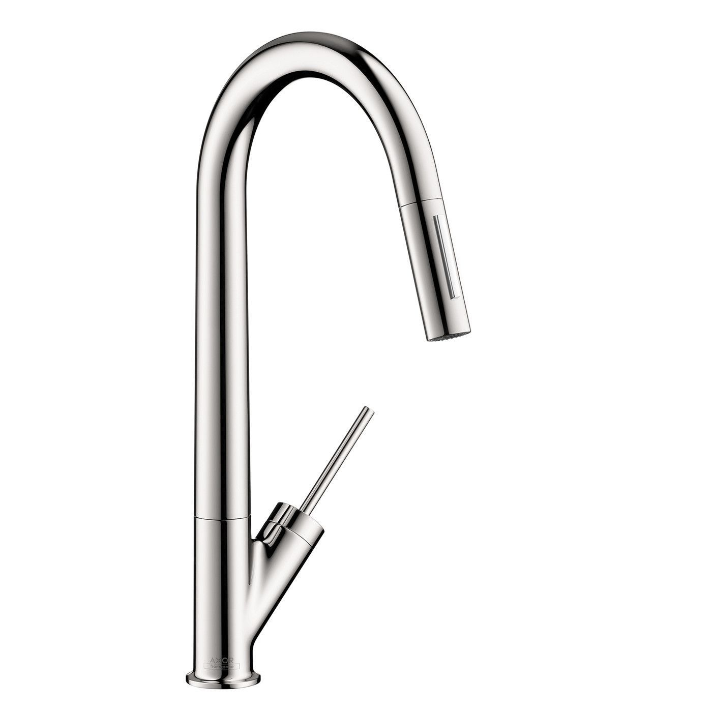 Hansgrohe Axor 10821001 Chrome Starck Pull-Down Kitchen Faucet with ...