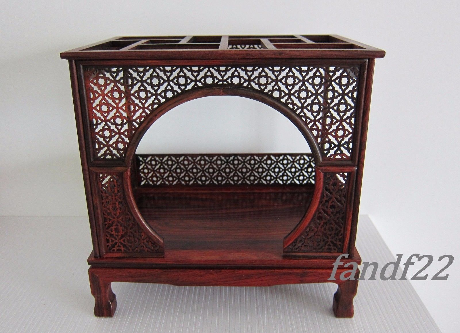 Doll Furniture Chinese Mahogany Table~1:6 Scale Barbie
