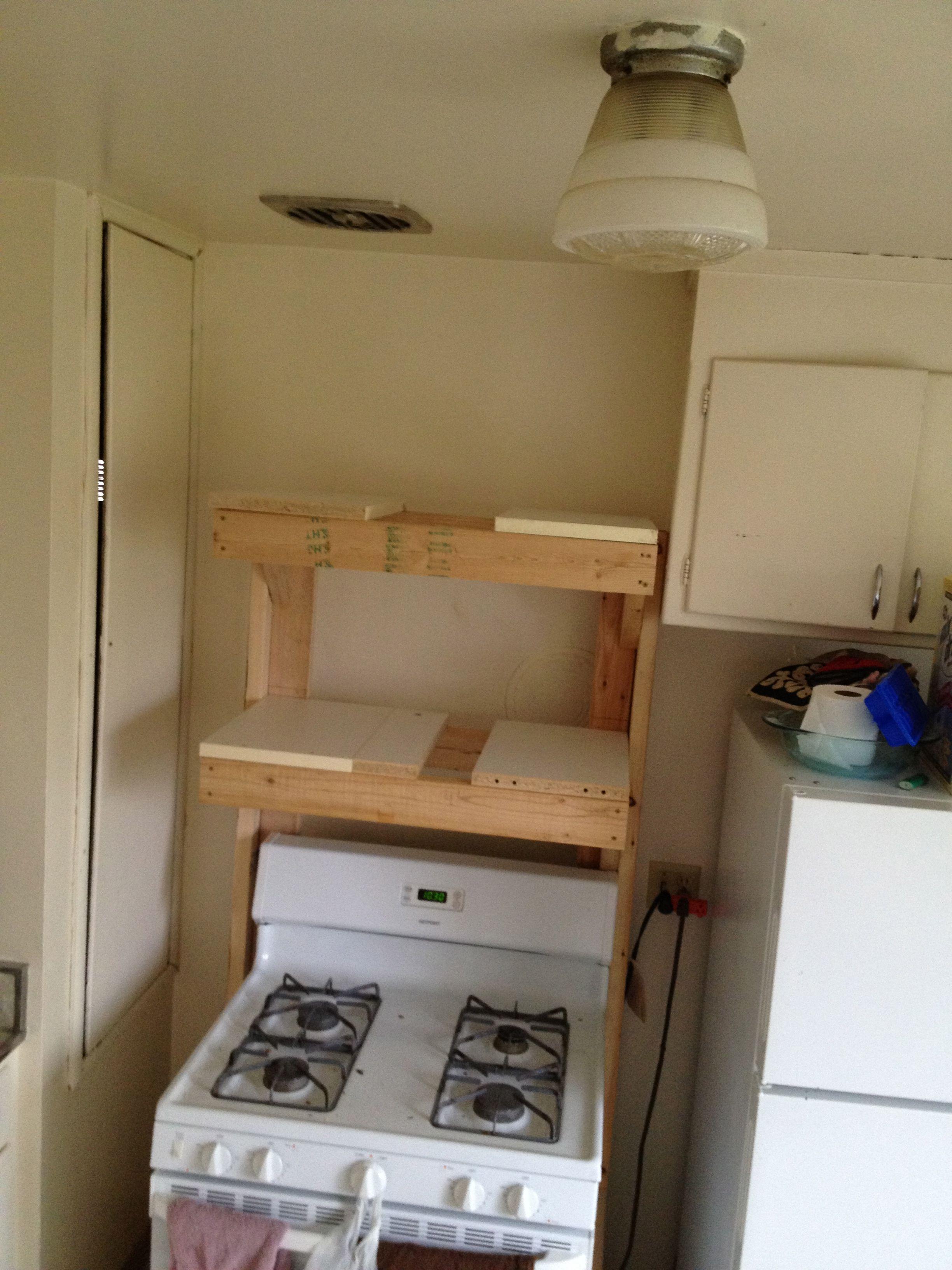 2x4 Freestanding Microwave Shelf Shelves Microwave Shelf Trending Decor